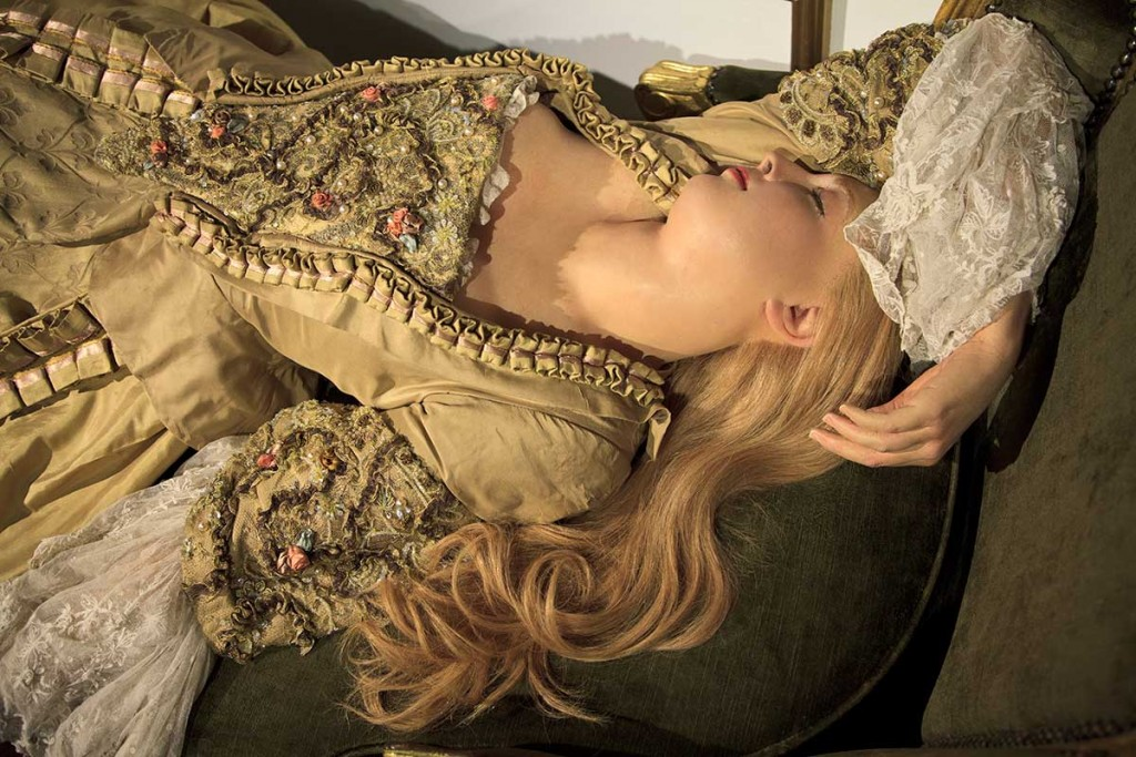 A breathing waxwork or Sleeping Beauty, sculpted by Dr. Philippe Curtius in Paris, 1767. Courtesy Madame Tussauds Archives, London. Photo © Joanna Ebenstein.