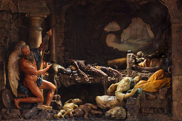 """Zumbo's 17th-century allegorical wax diorama called the """"Triumph of Time."""""""