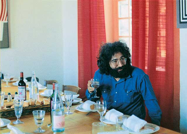 Jerry Garcia of the Grateful Dead at Château d'Hérouville, 1971.