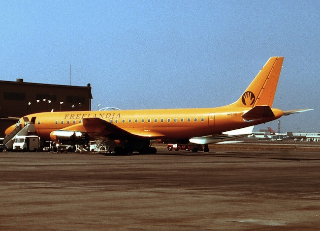 In 1973, Bill Ham, Sophie Houdet, and their daughter, Tara, hitched a free ride from Geneva to Los Angeles aboard a short-lived alternative airline called Freelandia.