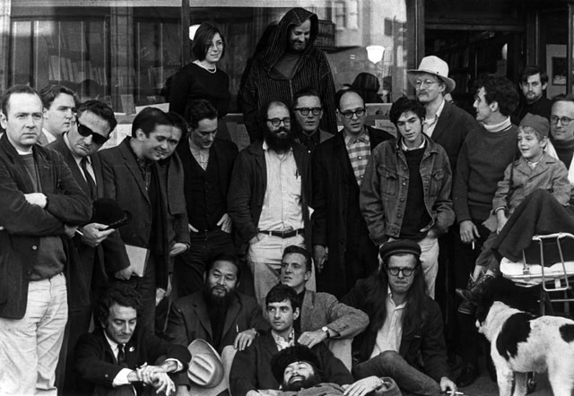In the early 1960s, the North Beach neighborhood of San Francisco, with its jazz clubs, poets (seen here in 1965 in front of City Lights Bookstore), and bars, was a regular place to hang out for Bill Ham and his Pine Street friends.