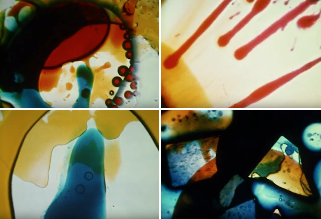 "As a light artist, Bill Ham was influenced by the work of Elias Romero. These stills are from a film Romero made in 1968 called ""Stepping Stones."""