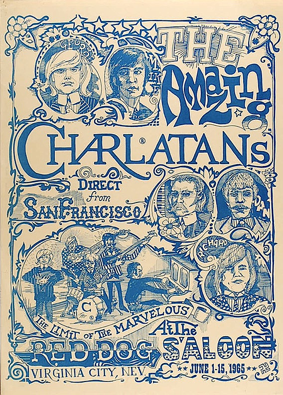 The Charlatans' shows at the Red Dog Saloon in Virginia City, Nevada, during the summer of 1965 are widely considered the first psychedelic rock concerts. Bill Ham and Bob Cohen created a automated light panel that produced colorful effects for these shows.
