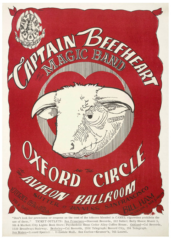 When Captain Beefheart played the Avalon, he hung out with Ham between his sets learn how the light show was created.