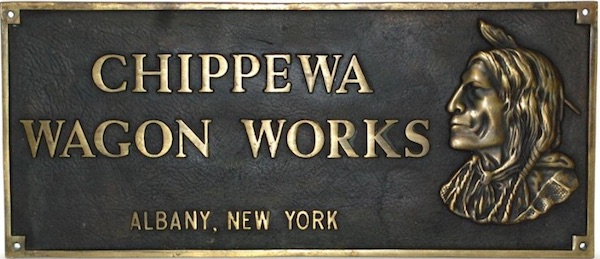 "One of Friday's fantasy pieces, a bronze sign advertising the made-up Chippewa Wagon Works was recently offered for $575 on an antiques web site. The ad read, ""This substantial, very high quality piece appears to probably be a factory building sign."""