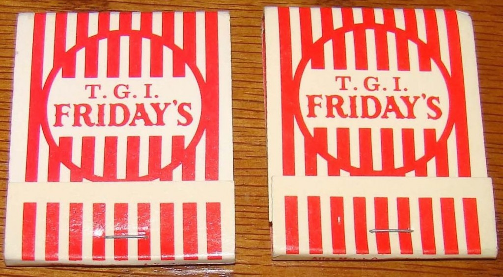 Vintage T.G.I. Friday's matchbooks.