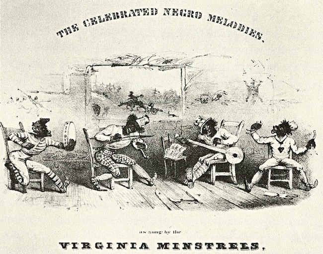 Sheet music from 1843 for the Virginia Minstrels, one of whose members was Joel Walker Sweeney.