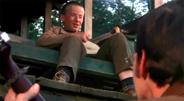 "The ""Dueling Banjos"" scene from the 1972 film ""Deliverance."""