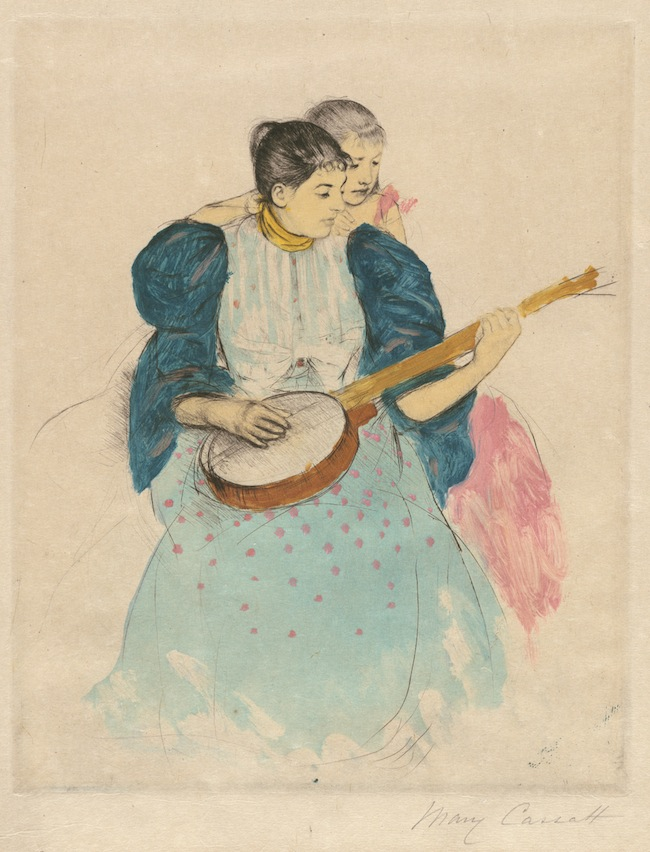 """The Banjo Lesson,"" circa 1893, by Mary Cassatt. Via the National Gallery of Art. Gift of Mrs. Jane C. Carey as an addition to the Addie Burr Clark Memorial Collection."