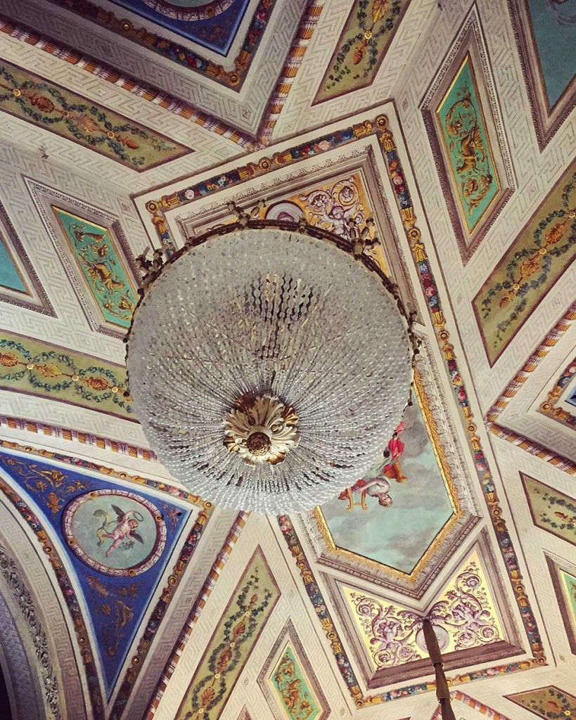 The ceiling of a former private salon for Duchess  Maria Luigia at the Teatro Regio.