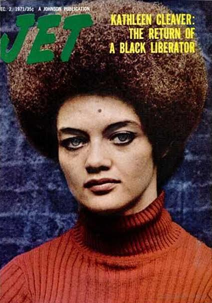 "Eldridge Cleaver's wife, Kathleen Neal Cleaver, was featured on the December 2, 1971, cover of ""Jet"" magazine. (Via Pinterest)"
