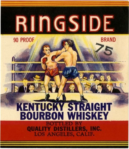 Whiskey label, Ringside Kentucky straight bourbon whiskey, Quali
