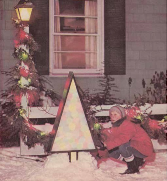 "Inspiration from the 1963 ""GE Christmas Lighting and Decorating Guide."" (From Mid-Century Christmas, reproduced with permission from GE Lighting, a business of General Electric Company.)"