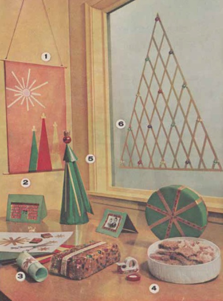 "The 1965  ""Christmas Magic"" gift-wrapping guide put out by the 3M Company gave suggestions for decorating your home and presents with Scotch Brand Tapes. (From Mid-Century Christmas, used with permission)"