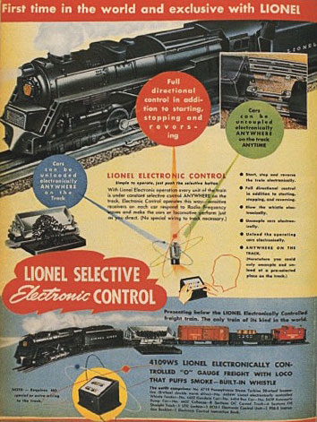 Lionel's first attempt in 1946 at a sophisticated electronic controller was too expensive and too soon.