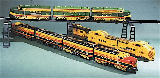 Toymaker Louis Marx succeeded in the 1950s and '60s by producing lots of inexpensive wind-up trains whose play value made up for their lack of technology.