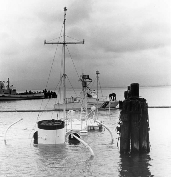 In 1981, the Potomac sunk in 35 feet of water while docked at the Treasure Island Naval Base in San Francisco Bay.