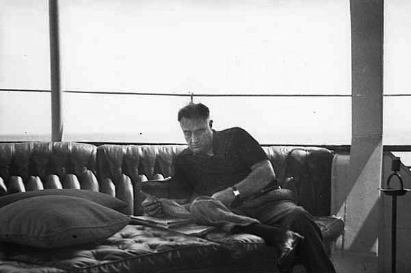 President Franklin Roosevelt aboard the USS Potomac, 1936.