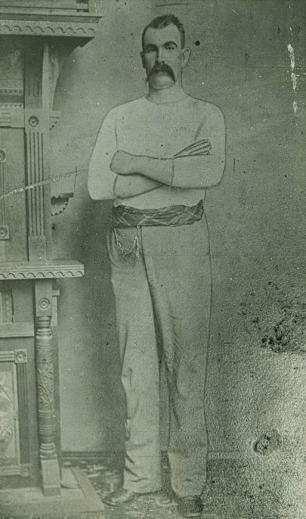 "Nathaniel ""Nat"" N. Kinney, the towering chieftain of the Taney County Bald Knobbers, pictured in 1883, the year he moved to Forsyth, Missouri. (Courtesy of The State Historical Society of Missouri)"