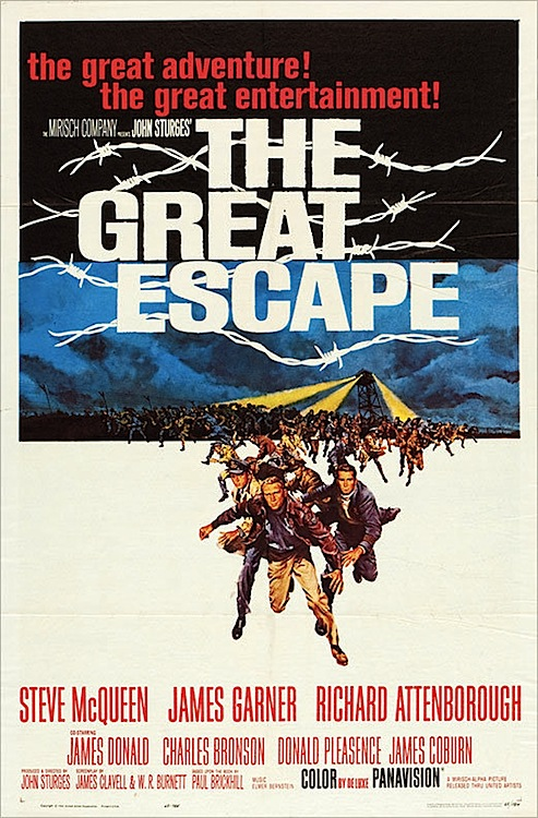 """The Great Escape"" was shot in Germany in 1962 and released in 1963. It was McQueen's big breakthrough as a star. Via Heritage Auctions."