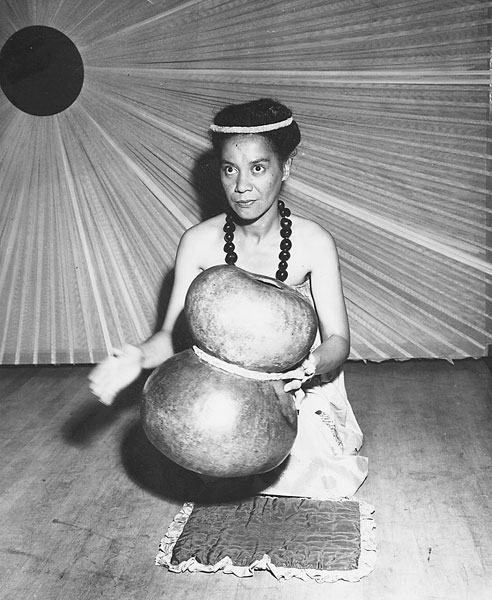 'Iolani Luahine became a pioneer in the movement to restore the hula to its ancient Hawaiian roots in the late '60s and 1970s. (Via WikiCommons)