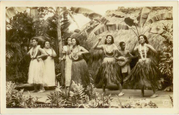 hula_postcard_vintage