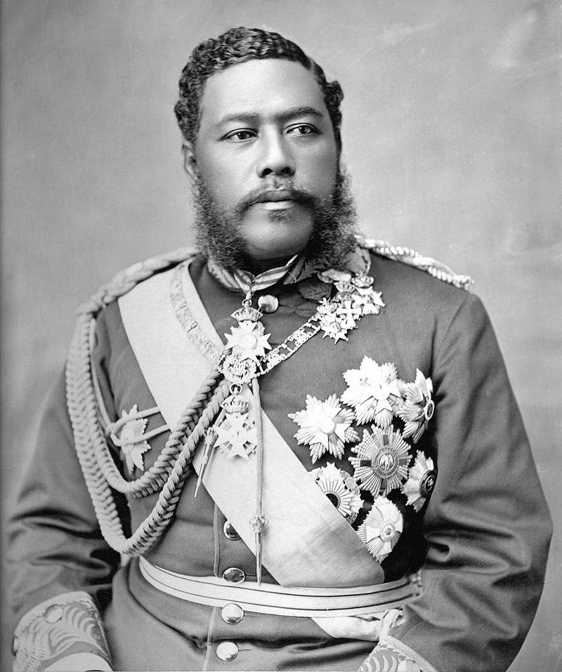 "King David Kalākaua, a.k.a. ""The Merrie Monarch,"" pictured in 1882, sought to revive ancient Hawaiian arts the American missionaries suppressed, including the hula. (From the Hawaii State Archives, WikiCommons)"