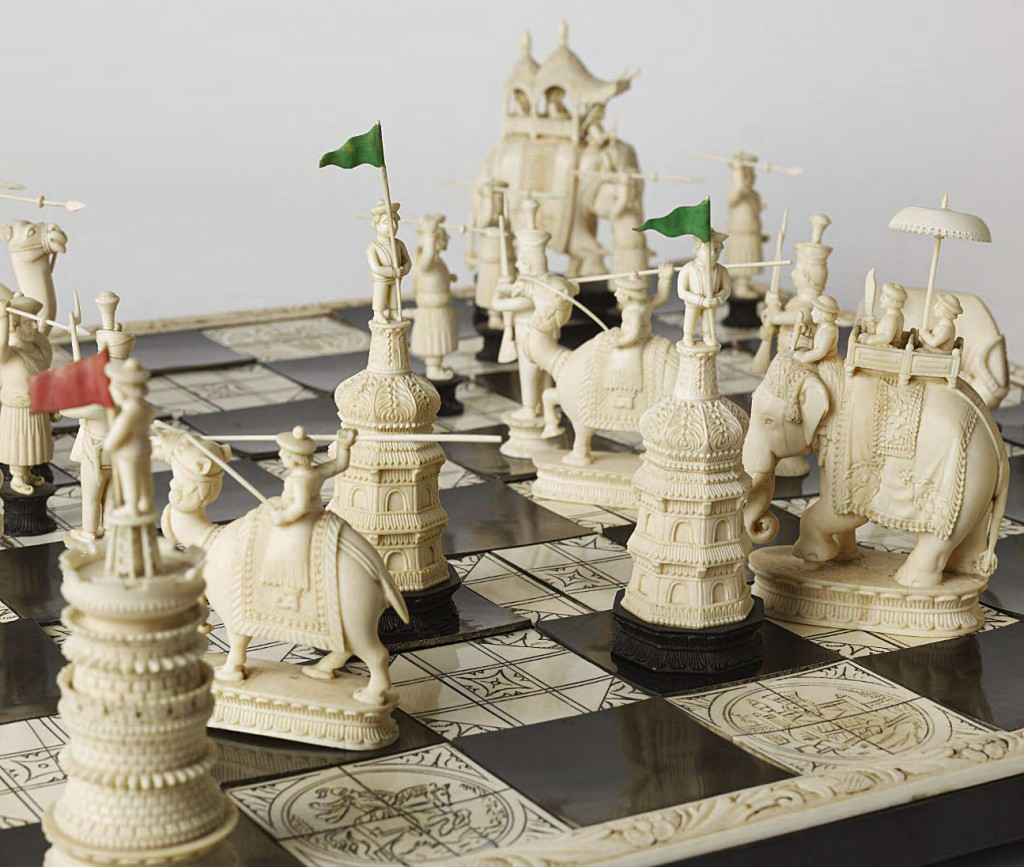 Detailed Chess Set Part - 45: ... Most Games Of Chess Have Been Played Using A Familiar Set Of Abstracted  Black-and-white Pieces, With Minimal Variation In Size And Detail.