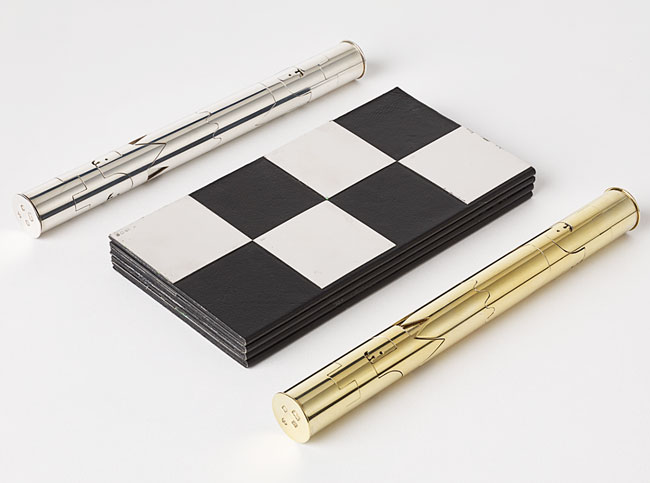 This portable, limited-edition souvenir set was designed by filmmaker Cy Endfield for the 1972 World Chess Championship.