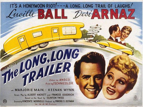 "Lucille Ball and Desi Arnaz's 1953 comedy, ""The Long, Long Trailer"" boosted mobile-home and travel-trailer sales in the 1950s."