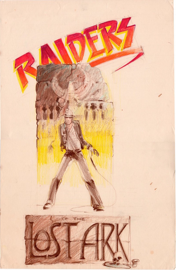 "A concept sketch for a ""Raiders of the Lost Art"" logo by Nilo Rodis-Jamero is part of Alinger's collection. (Courtesy of Brandon Alinger)"