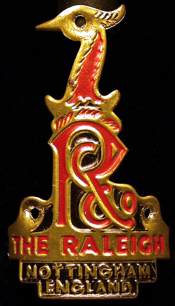 A version of Raleigh's heron badge, circa 1960s - '70s.