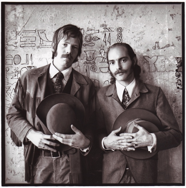 Dan Hicks (left) and Mike Ferguson in San Francisco, circa 1966.