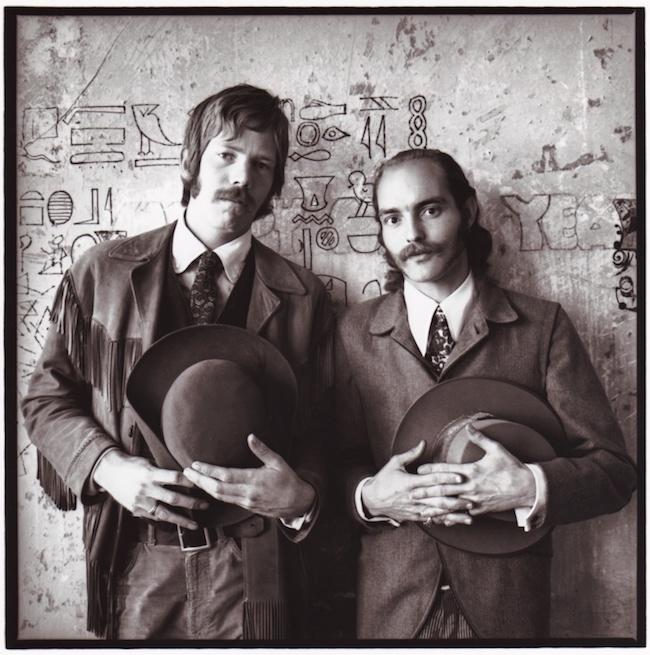Dan Hicks (left) and Mike Ferguson in San Francisco, circa 1966.