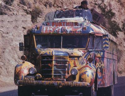 The Furthur bus, circa 1965. Via NoFurthur.com.