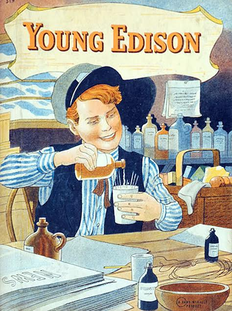 W.E. Wise's Young Edison: The True Story of Thomas Edison's Boyhood was first published in 1933. (Via eBay)