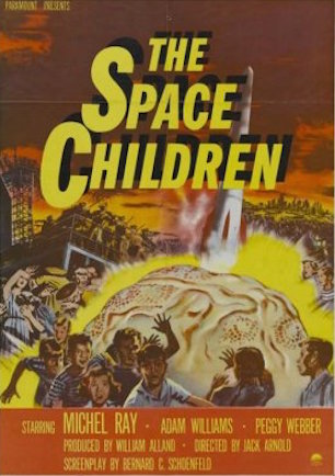 "In 1958's ""The Space Children,"" the children of scientists prevent a nuclear war by destroying the missiles their parents are working on. (Poster reproduction available on Walmart.com)"