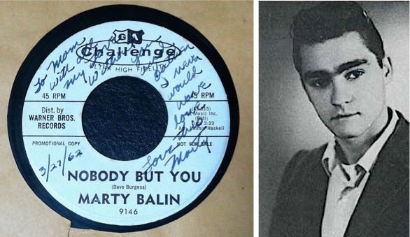 Balin recorded his first record in 1962 at age 20. This copy is inscribed to his mother and father.