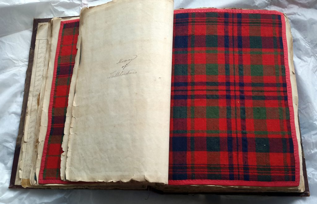 A Wilsons of Bannockburn sample book, circa 1830-'40. (Courtesy of the Scottish Tartans Authority)