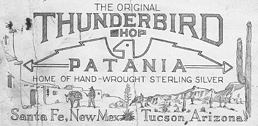 The Original Thunderbird Shop's letterhead, circa 1930s