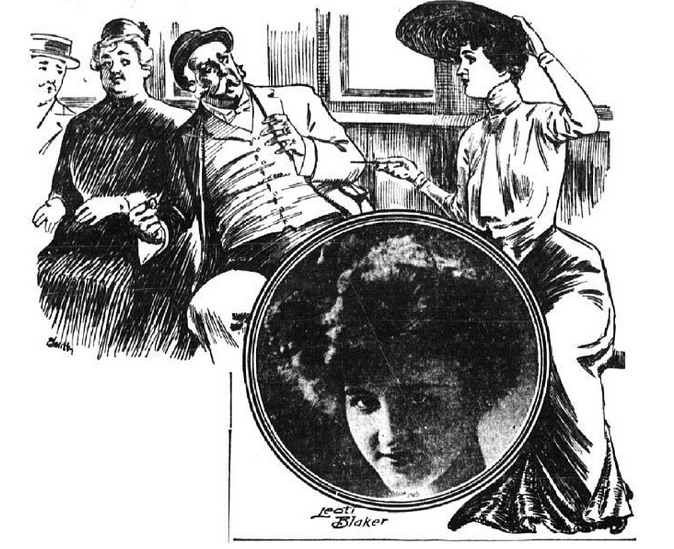 "A glowing article in the May 17, 1903, edition of ""The New York Evening World"" depicted Kansas tourist Leoti Blaker, who stabbed a New York streetcar masher with her hatpin, as a heroine."