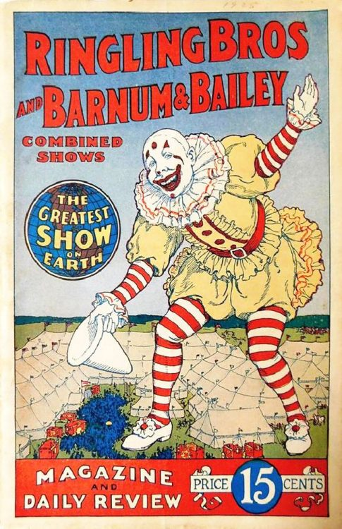 A copy of the Ringling Bros. and Barnum & Bailey Magazine and Daily Review from 1927.