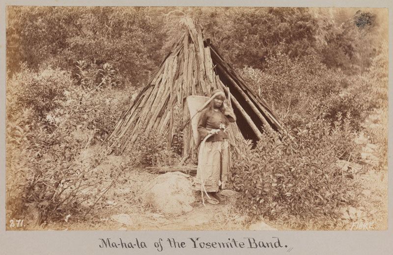 """Ma-ha-la of the Yosemite Band,"" photographed by George Fiske, circa 1885. Via the <a href=""http://catalog.library.ca.gov/F/Q84P153NMI5PAHQ3VIHI5UI41RMVTB9X9CKUI2YHGSCX8RK1FG-19558?func=find-b&amp=&amp=&request=001473000&find_code=SYS&pds_handle=GUEST"" target=""_blank"">California State Library</a>."