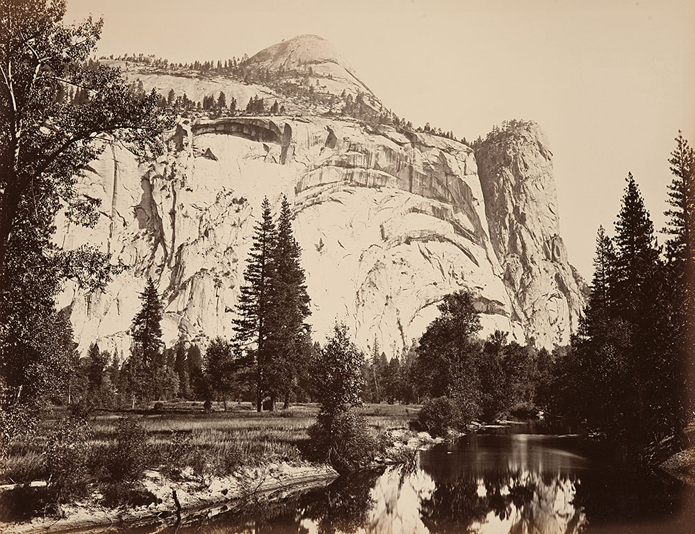 Early images of Yosemite Valley, like this photograph by Carleton E. Watkins from 1861, capture a landscape that was cultivated by Native American inhabitants for thousands of years.
