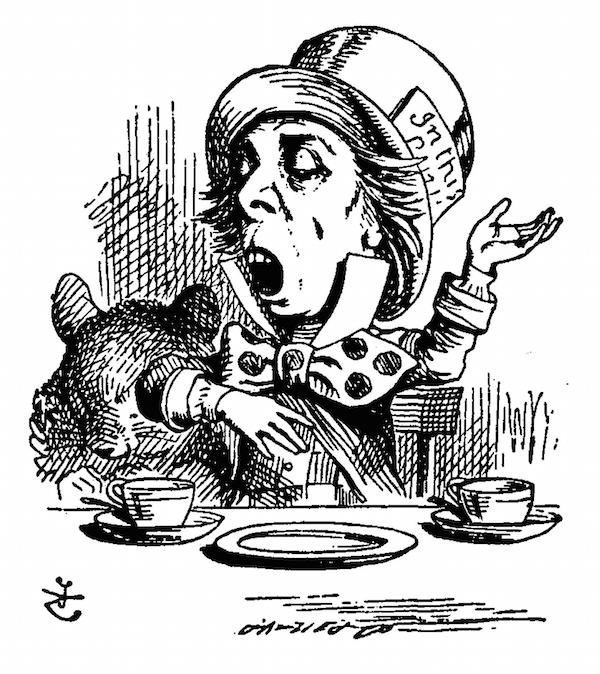 "Lewis Carroll's inspiration for The Mad Hatter—illustrated by John Tenniel in the original 1865 ""Alice's Adventures in Wonderland""—were much sadder figures in real life: haberdashers poisoned by mercury."