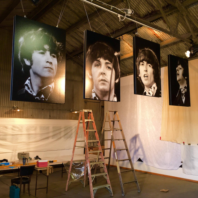 "The installation of ""Beatles: Lost and Found Photos"" at The Reclaimed Room Gallery in San Francisco, 2016. Photo by Richard Blair."