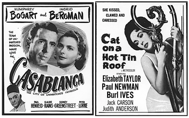 "Some of the blocks in the collection are iconic films such as ""Casablanca"" and ""Cat on a Hot Tin Roof."