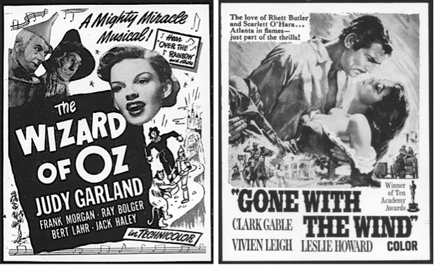 "The potential for producing and selling authorized, limited-edition restrikes on archival paper for films such as ""The Wizard of Oz"" and ""Gone With the Wind"" are one of the main reasons with Ginberg's and Wagner's collection is valued so highly. Images via Guernsey's."