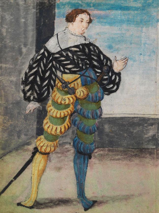 In February of 1521, when he was 24, Schwarz wore this asymmetrical look to a friend's wedding reception. © The Herzog Anton Ulrich Museum, Braunschweig (Bild-47).