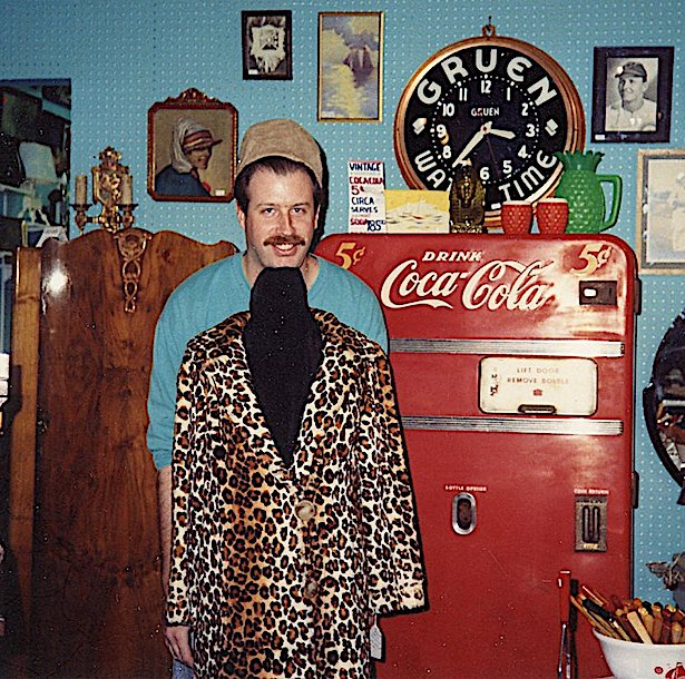Cerny's business partner Jeff Nelson, seen here at the Wrigleyville Antique Mall, circa 1990s. The two friends are still partners at the Broadway Antique Market.